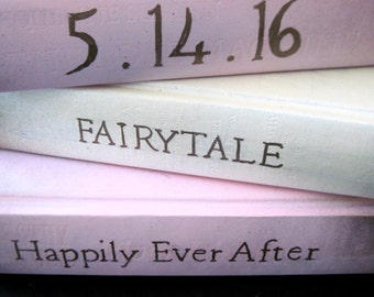 Romantic Wedding, Romantic Books, Wedding Books, Fairy Tale Wedding, Beach Wedding, Wedding Shower Decor, Romantic Book Decor, Custom Books