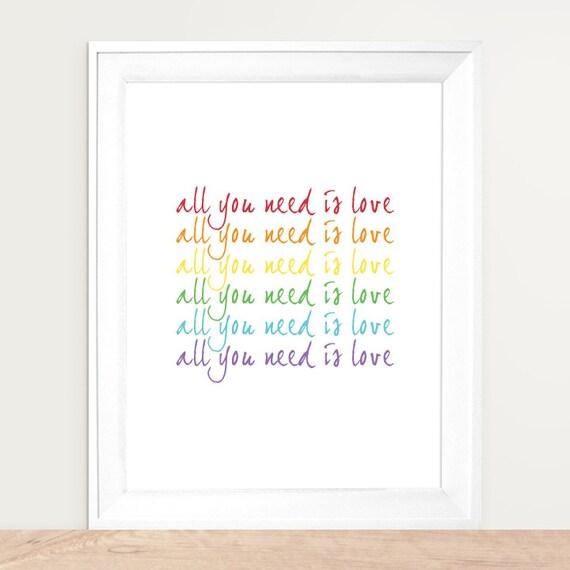 All You Need Is Love, Rainbow Art, Rainbow Colors