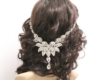 Wedding hair chain wedding hair accessories wedding headpiece wedding headband wedding hair jewelry bridal hair chain bridal headband bridal