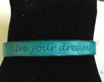 Live Your Dreams Leather Bracelet