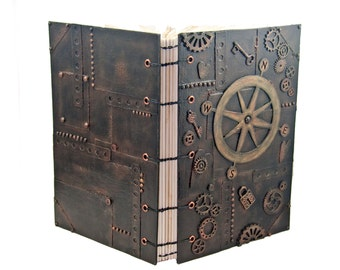 Steampunk Industrial Inspired Mixed Media Journal