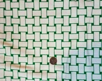 Vintage Basket Weave Canvas Fabric 1 & 1/3 yard