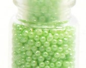 Green .90mm No- Hole Pearl Beads NEW!