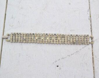 1950s Weiss Rhinestone Bracelet