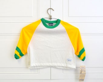 1980s NOS Wrangler Boys' Cropped Athletic Tee