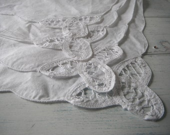 vintage napkins open embroidery napkin wedding decor dinner napkins 4 piece napkins white napkins table napkins cottage decor