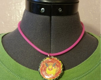 Flareon Bottlecap Pendant Necklace