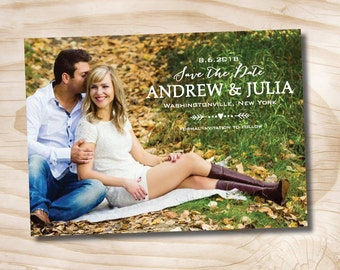 Photo picture save the date Save the Date - Printable digital file or printed invitations