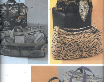 Simplicity 4582 Totes Sewing Pattern Luggage Purse Carry-On UNCUT