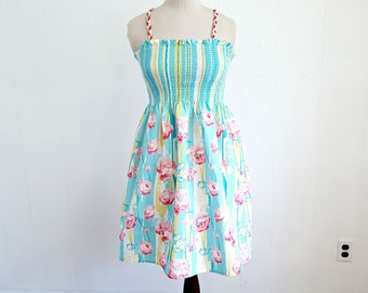 Smocked Cotton Sundress, Pretty Floral Sundress