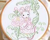 Rose Mouse - PDF Hand Embroidery Pattern