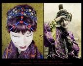 Boho Headband,Boho Chic Hair Accessories,Gypsy Headpiece,Beaded Headpiece