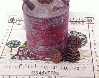 ANTIQUE Gas/Oil Can, 1940's/Great Decorator Piece