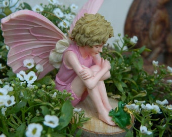 Fairy Garden Accessories Fairies Fairy and her Frog Prince Miniature Accessories Collectible fairy Cicely Mary Barker Candytuft