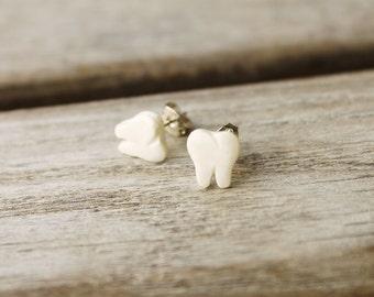 Polymer Clay Earrings... Tiny Teeth