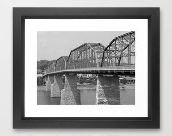Bridge Photography, Black and White Photo - Large Format Art Photography Print