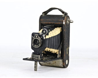 Kodak Autographic Jr. No. 1 Camera, Vintage Camera With Black And White Bellows, Vintage Kodak Camera, Old Camera, Old Kodak Camera
