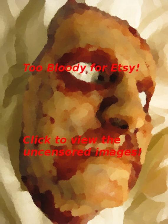 Skinned Horror Face Mask - DeHumanVIII -