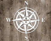 Compass Boho Vinyl Sticker