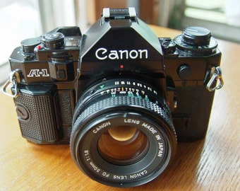 Canon A-1 35mm SLR Camera with 50mm f1.8 Lens