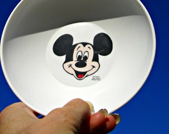 Vintage Mickey Mouse Melmac Bowl - Plastic Mickey Mouse Cereal Bowl