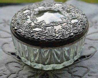 Silver Plated Trinket Box with Mirror