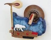Piano Hammer Landscape - Polar Bear - Scott Rolfe