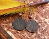 1886 & 1897 - Victorian Coin Earrings