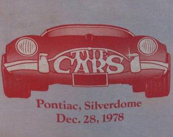 THE CARS 1978 Pontiac Silverdome concert T SHIRT