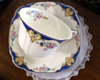 Regina Teacup, Tea Cup and Saucer, Porcelain Cups, Vintage China 13228