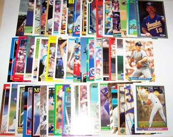 50 Assorted Vintage Milwaukee Brewer Cards