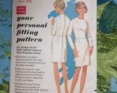 Vintage Butterick 3000 Fitting Shell Sheath Dress  Sewing Pattern 33 Inch Bust