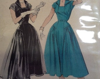 Vintage Butterick 6538 Formal Dress Sewing Pattern 30 Inch Bust
