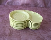 Vintage lime green coasters snack holders.  C3-434-1