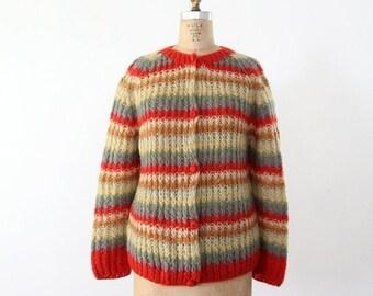SALE 1960s mohair cardigan sweater