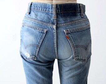 Levis 517 denim jeans, 1970s Levis, boot cut jeans, 29x30