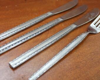 ENSENEDA  or REGINA Vintage Flatware from Rogers Co. (Stanley Roberts) Stainless Silverware BIN 44