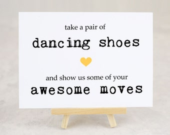 Take a Pair of Dancing Shoes Sign, Wedding Sign, Party Sign, Flip Flops Sign, Prom - A7SIGN-KTP