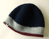 Extra LARGE Men's Wool Beanie UPCYCLED