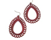 Roxy Earrings in Cranberry