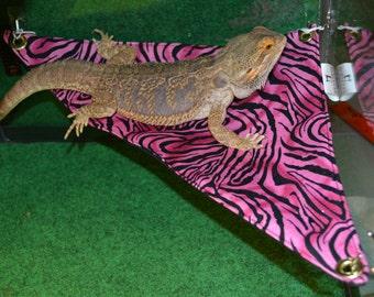 bearded dragon hammock bed pink bling lizard hammock   etsy  rh   etsy