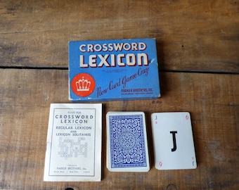 Vintage Crossword Lexicon  Card Game  Assemblage - Paper Crafts Complete