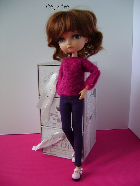217 french and english knitting pattern pdf sweater for lila doll 30 cm from. Black Bedroom Furniture Sets. Home Design Ideas