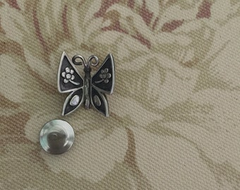 """James Avery Sterling Silver Rare Vintage Retired """"Mariposa"""" Pin/Tie Tack"""