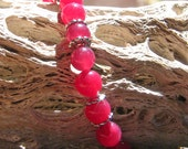 RESERVED for KELLI: Ruby Jade & SS Bracelet w/Magnetic Clasp