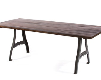 Williamsburg Reclaimed Wood Dining Table - Dark Walnut - Custom Sizes & Finishes Available