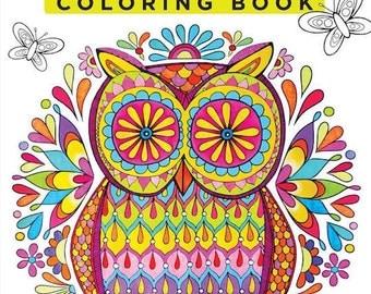 adult coloring book design originals creative coloring birds on nature mandalas coloring book (design originals)
