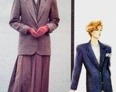 Vintage 80's Vogue Classics Pattern 7594 * Misses Petite BLAZER SUIT JACKET Below Hip Length Equestrian Style - Women's Size 6 8 10 UNcut