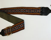 Vintage Camera Strap – Hippie Woven Pattern – With Clips