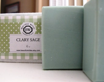 Clary Sage Soap | Artisan Soap | Natural Soap | Vegan Soap | Cold Process Soap